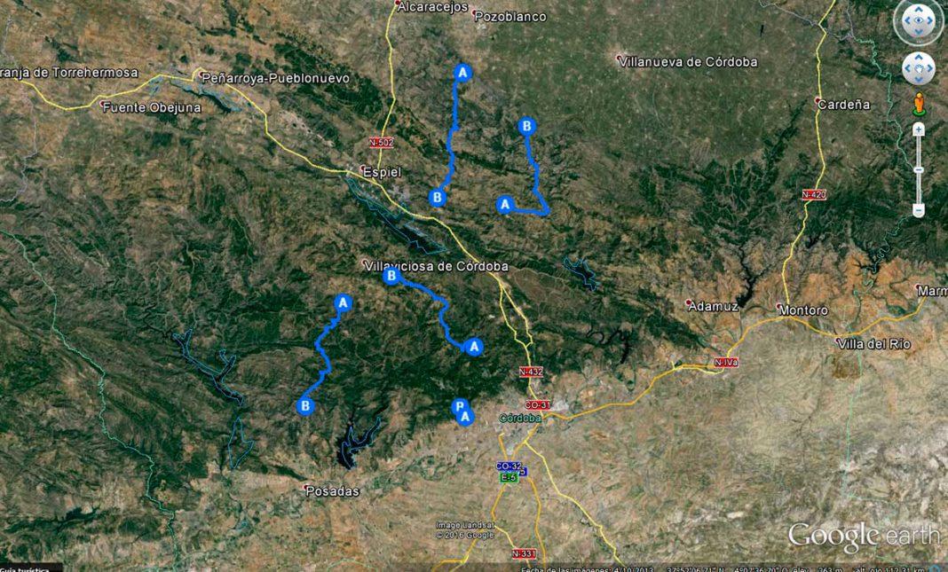 mapa tramos cronometrados rally