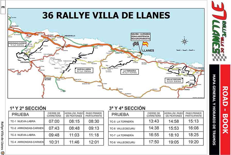 Mapa general Roadbook rally_Llanes