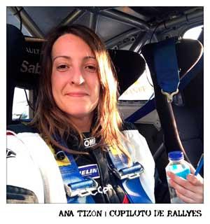 Ana Tizón Copiloto de Rallyes
